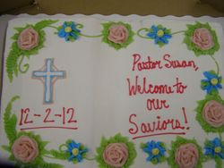 Pastor Susan's cake.