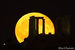 Full Moon over Temple of Poseidon, Greece, 2016