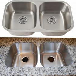 50/50 Stainless steel undermount sink