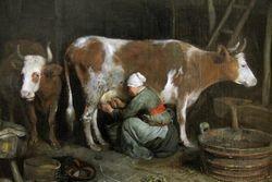 Ter Borch, MMilkmaid, detail, 1652-4, Getty