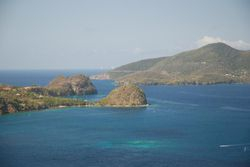 The view from Napoleon's Fort across Les Saintes