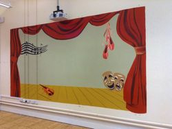 A stage mural