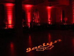 Special Personalized Gobo Display