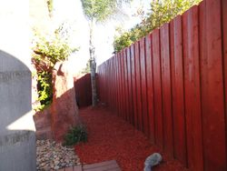 New side fence