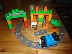 MegaBloks & Lego Duplo Thomas Sodor Adventures With Tracks & Train - $30