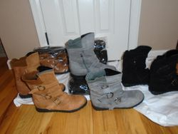 Women's Shoe Boots- BNIB- Sizes 9 & 10- Black, Gray, and Tan - $25