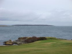 Discovery Island from the Victoria Golf Course.