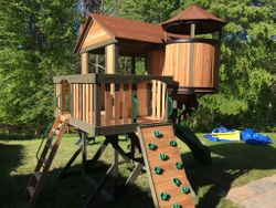 Backyard Discovery Eagles Nest Elite Swing Set installation in maryland