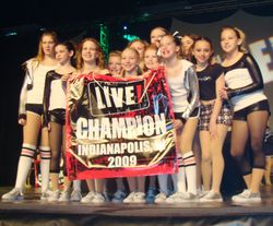 Dance Champions with banner!