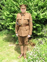 WW1 SD tunic, trousers and Cap worn by Ronnie Bracke