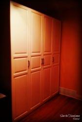 Closet doors installed