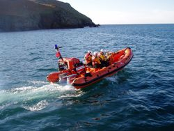 Plymouth ILB whilst on exercise with Salcombe Lifeboats
