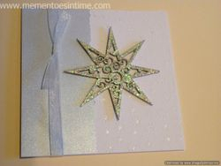 Silver Chipboard Star Card