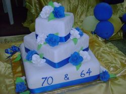 Blue and White Cake (W036)