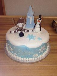 Frozen Olaf & Sven Cake