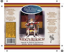 King's Kolsch - Blue Hills Brewery