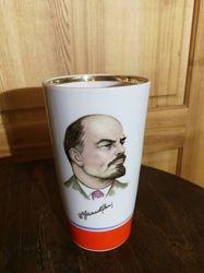 Vaza, piestukine, stikline Lenin. Kaina 32