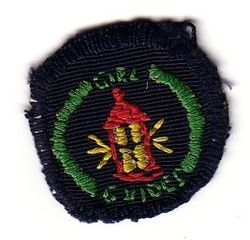WWII Handmade Guide Interest Badge (Emergency Helper)