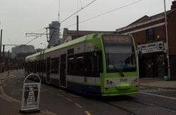 Tram #2549 departing Reeves Corner