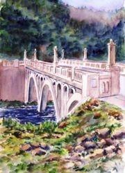 Kayweah Bridge Portrait, Three Rivers