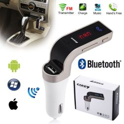 Car Bluetooth FM Transmitter + USB Car Charger with Voltage Display