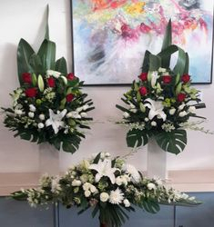 Funeral Casket Spray and Church Flowers