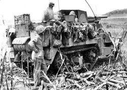 "3"" Gun on Marine Halftrack:"