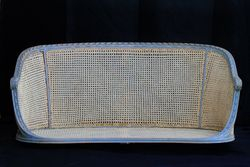 Antique French Caned Settee Full Front View