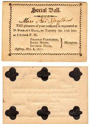 1811 Jaffrey, NH Ball Invitation