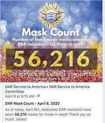 April 8th, 2020 - 56,216 Masks Made