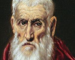 El Greco, St. Jerome, detail, Met