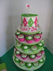 Golf Anniversary Cupcake Stand