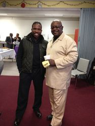 Superintendent Moore and Apostle Hill