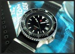 """DAGAZ- """"COUNTDOWN/GMT-BUND"""" SKX w/ SAPPHIRE CRYSTAL"""