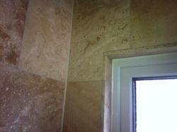 Window edge and wall cornering.