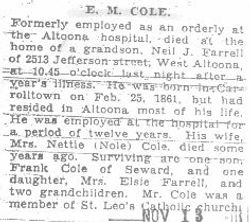 Cole, E. M. 1931