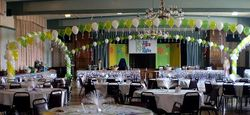 String of Pearls Balloon Arch with Columns - Game Show Theme