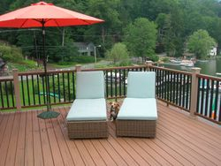 Two Story Full Length Trex Deck & Railing 3