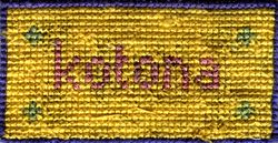 Cross with the stitches