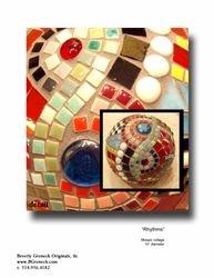 """""""Rhythms"""" mosaic sphere"""