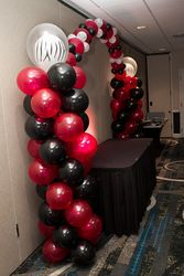 Balloon column close up