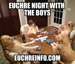 Euchre night with the boys.