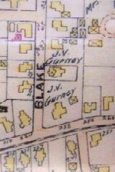 Map of J.V. Gurney properties.