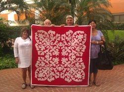 Granddaughter Lindsey's Crown Flower Quilt