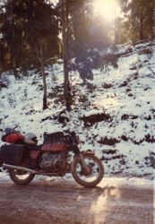1982 Alpine Rally @ Perkins Flat - Jeff Rosenstrauss' R100/7 (1977) in snow and ice