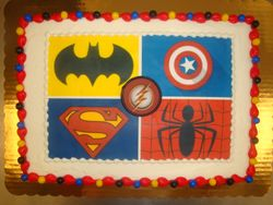 30 servings $65 photo decal cake