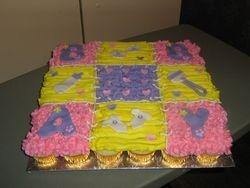 Quilt Cupcake Cake