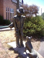 Miner and his dog