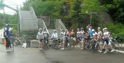 Everyone is ready for training ride Mont Tremblant
