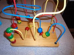 Maxim Enterprise Classic Wood Bead Maze - $13